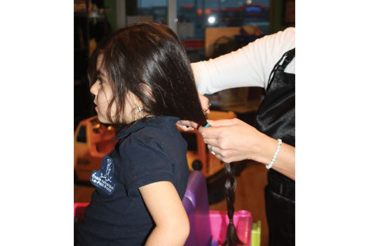 Giada Zingone, 5, donated her long locks to Angel Hair for Kids last winter