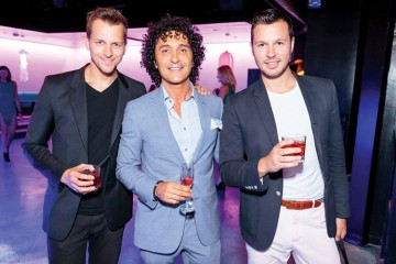 Cove ThirtyOne Launch Event - Shot by Kevin Chung - Jason Yantha of MTV Canada, Tommy King of Cove ThirtyOne and Andrew Edwards