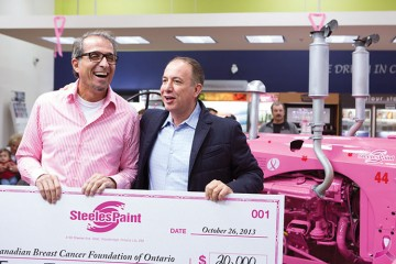 steeles-paint-grisolia-and-vaughan-mayor-maurizio-bevilacqua-with-cheque