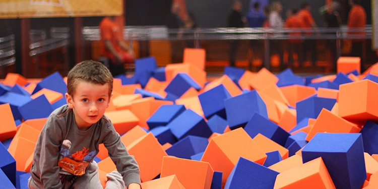 Kids of all ages can enjoy endless fun at Sky Zone, where unique activities will keep them entertained and in shape