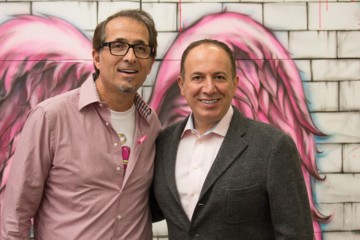 Steeles Paint owner Claudio Grisolia with Vaughan Mayor Maurizio Bevilacqua