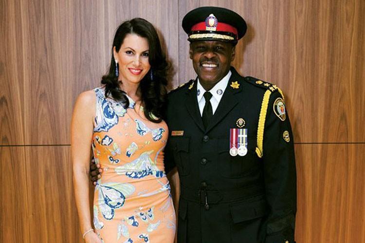 Daniela DeGasperis and Toronto Police Chief Mark Saunders