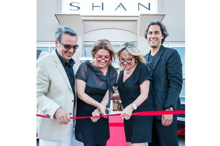 Gino Lévesque, Nathalie Lévesque, Chantal Lévesque and Jean-François Sigouin at the ribbon cutting for SHAN Boutique