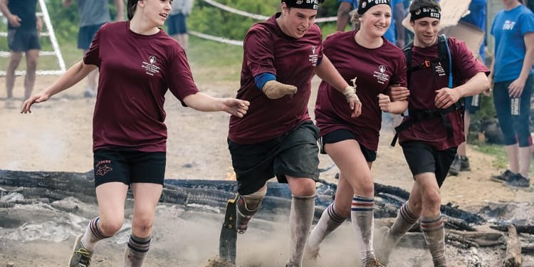 Jeffrey Beausoleil takes part in the Spartan Race at Le Massif de Charlevoix ski resort in Quebec City