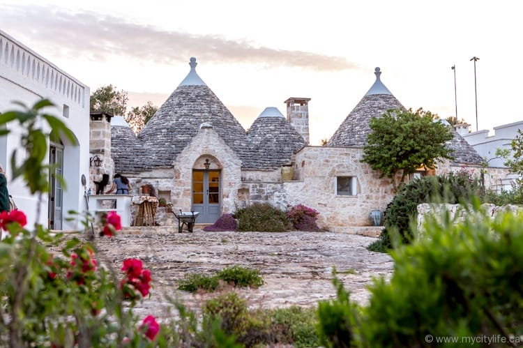 Trulli — distinct and ancient round stone huts with conical roofs — abound at Trullo Terra Dolce, as well as at Casa Romigi in Valle d'Itria