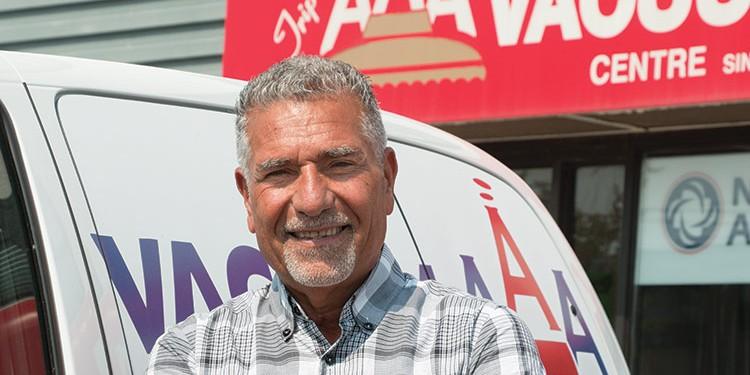 Jim Jammehdiabadi welcomes everyone to AAA Vacuum Superstore's customer appreciation day this October