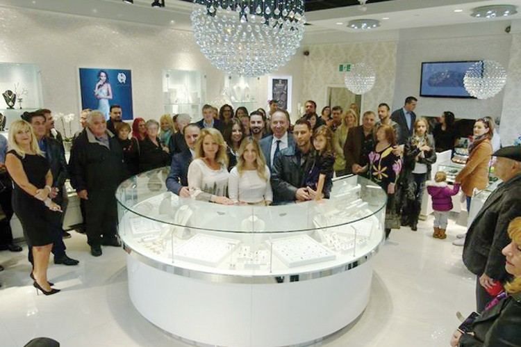 Jewellery aficionados show their support at the Glitz Jewellery Boutique grand opening in Maple
