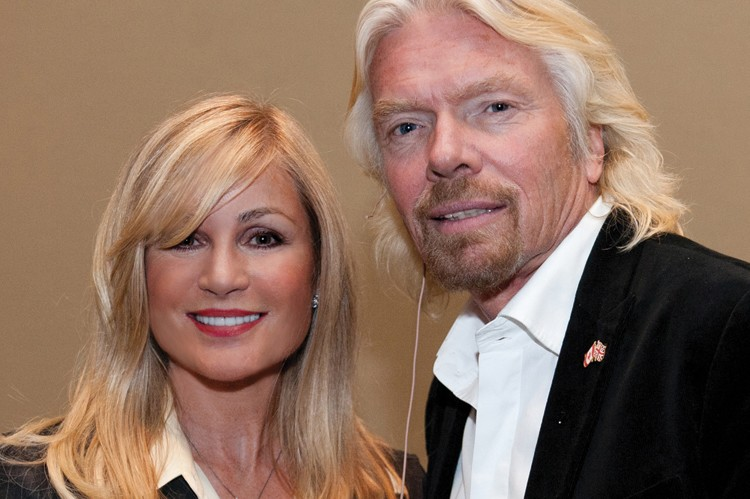 Risi rubs shoulders with English business titan Richard Branson