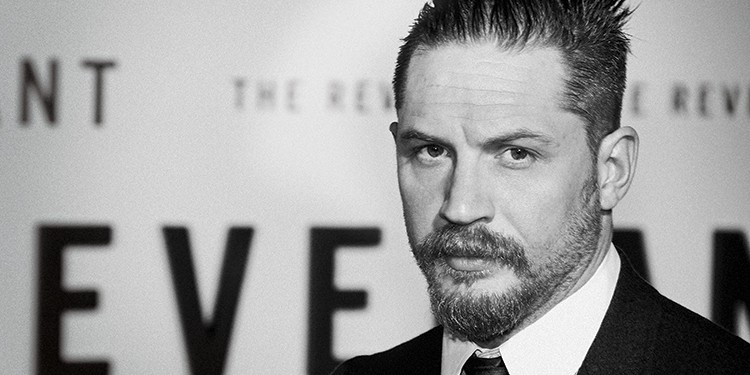 Oscar-nominated actor Tom Hardy at the Los Angeles premiere of The Revenant at the TCL Chinese Theatre