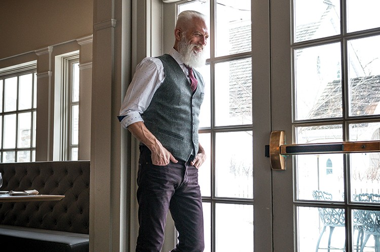 The world is Paul Mason's oyster as he looks toward the future. Shoes by Cole Haan