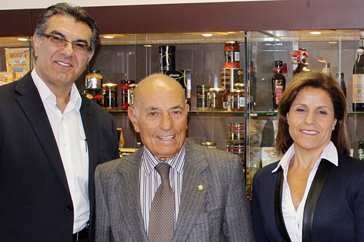 From left to right: Aurora Importing and Distributing president Anthony Morello, founder Nunzio Tumino and general manager Rina Tumino Imbrogno