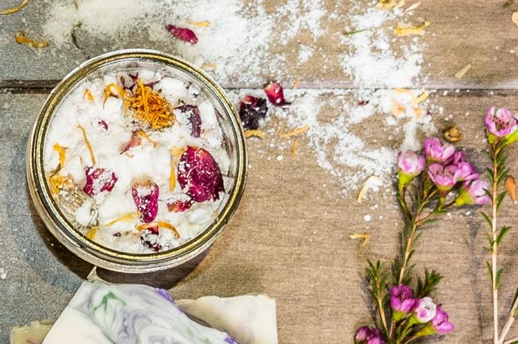 3. Handmade Bouquet Bath Milk