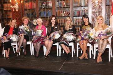 Left to right: Andrea Trentadue (MC), Emilia Valentini, Jackie Rosati, Bambina Marcello, Grace Fusillo-Lombardi, Anna Eliopoulos, Vivian Risi