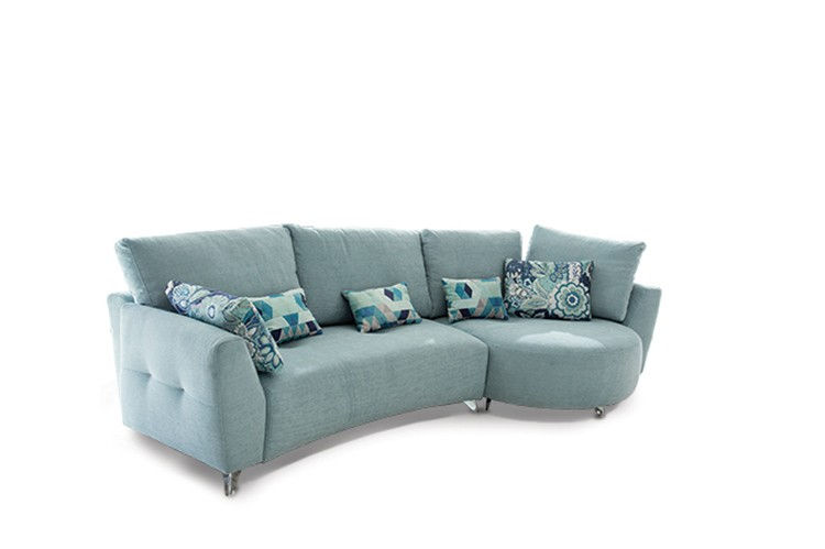"""Crafted in Spain, this """"Valentina"""" curved sectional sofa blends modern style with a contemporary vibe with its variety of straight and curved modulars"""