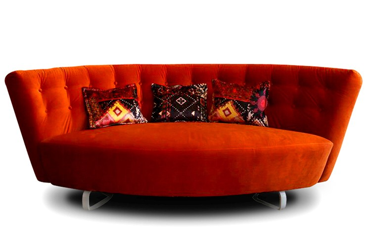This rich red fabric with webbing base is a part of the Lulu Upholstery Collection imported from Spain