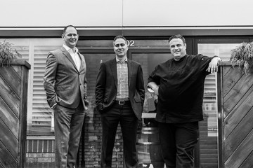 Substance Food Group's Ian Chase, Michael De Tommaso and Stephen Perrin, proprietors of successful Ontario restaurants Terra, Sarpa, Rusty's at Blue and Francobollo Posto Italiano