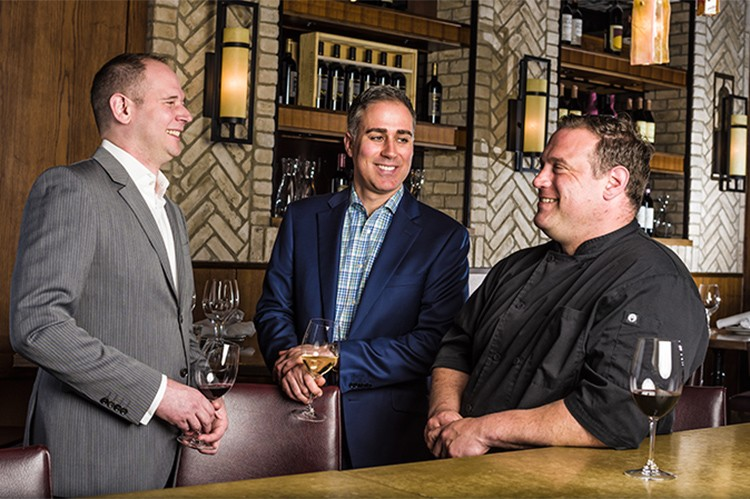 Ian Chase, Michael De Tommaso and Stephen Perrin have been friends for over 20 years, mixing business with pleasure while growing their quartet of restaurants and event catering services