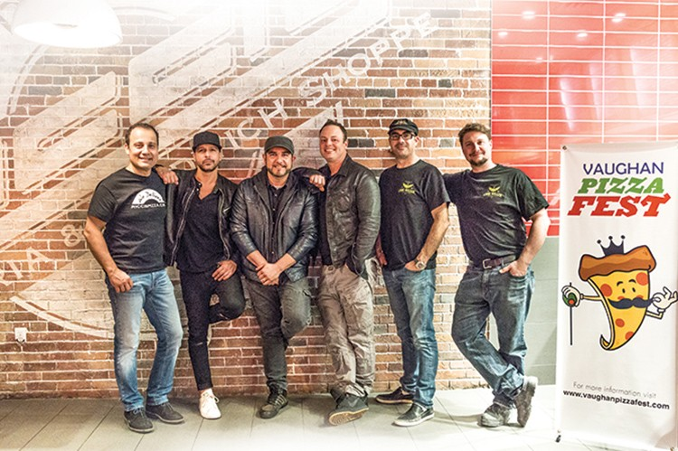From left to right: Mike Ricci, Joey (Joee) De Simone, Carlo Coppola, Frank Spadone, Dave De Ciantis and Ray Nicolini will be at Vaughan Pizzafest this summer