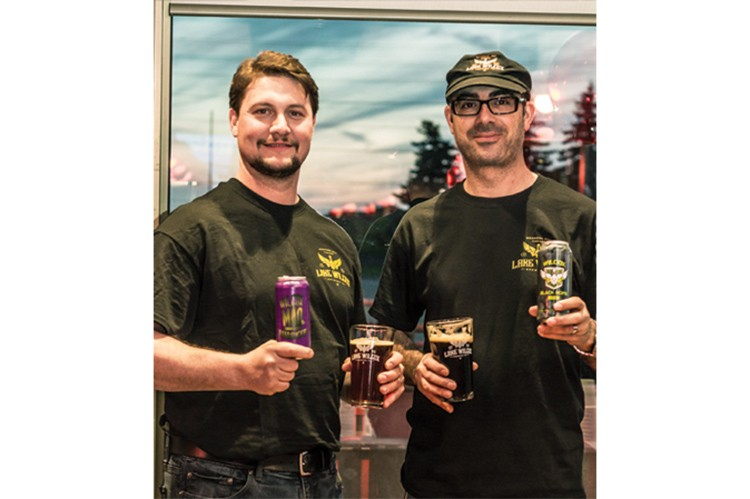 Dave De Ciantis and Ray Nicolini from Lake Wilcox Brewing Co.