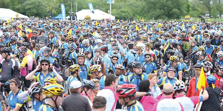 A total of 4,253 cyclists participated in the ninth annual Enbridge Ride to Conquer Cancer, which raised more than $17 million for the Princess Margaret Cancer Centre