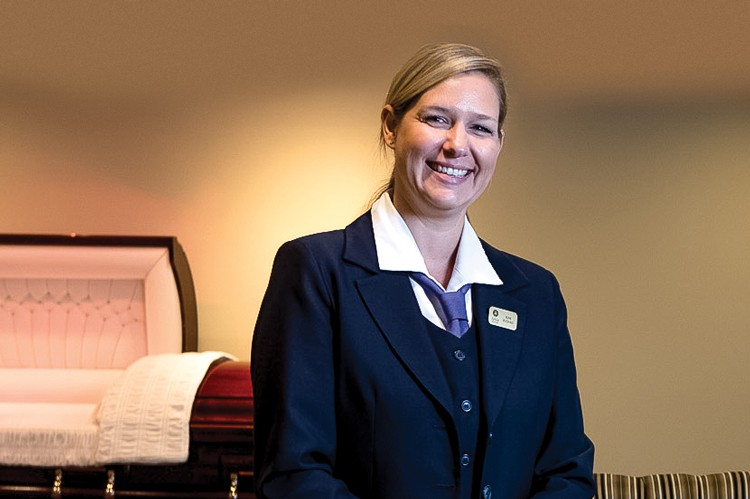 Kim Juchau, funeral director and manager of McDougall & Brown, Arbor Memorial's Scarborough location
