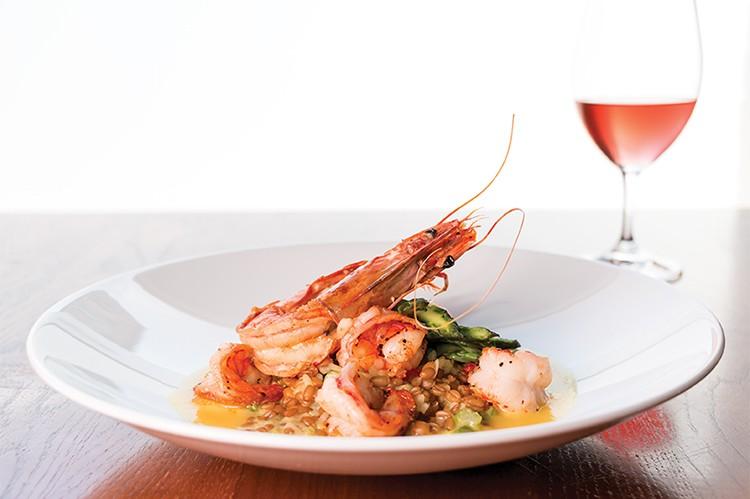 1. CHEF: Roberto DeLuca | DISH: Farro with Asparagus & Black Tiger Shrimps