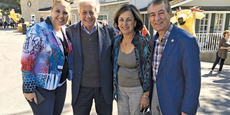 MSK principal Enza Marzano-Pellegrini and her father Domenic Marzano, Eliana DiBiase and councillor Michael DiBiase