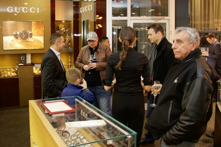 Guests filled Woodbridge Finch Centre Jewellers, champagne in hand, to browse the stunning pieces on display.