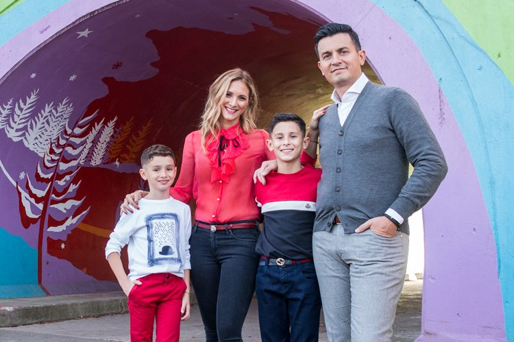 Jordana was adored by younger brother Laurence and older brother Lucas, pictured here with parents Alison and Luciano Fiorini