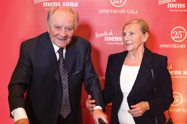 Mens Sana fundraising committee co-chair Vito Bianchini, and his wife, Letizia Bianchini