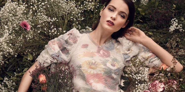 The ground is flowering, and so are your spirits. Make it known by donning a hushed shade of rose with a subtle display of blooms | Dress, Céline | Photography by Bela Raba