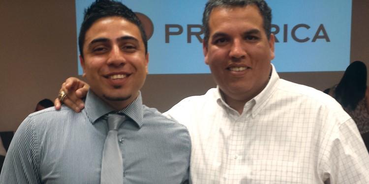Fernando Balbuena, regional vice-president at Primerica Financial Services, and Alejandro Muñoz, district leader at Primerica Financial Services