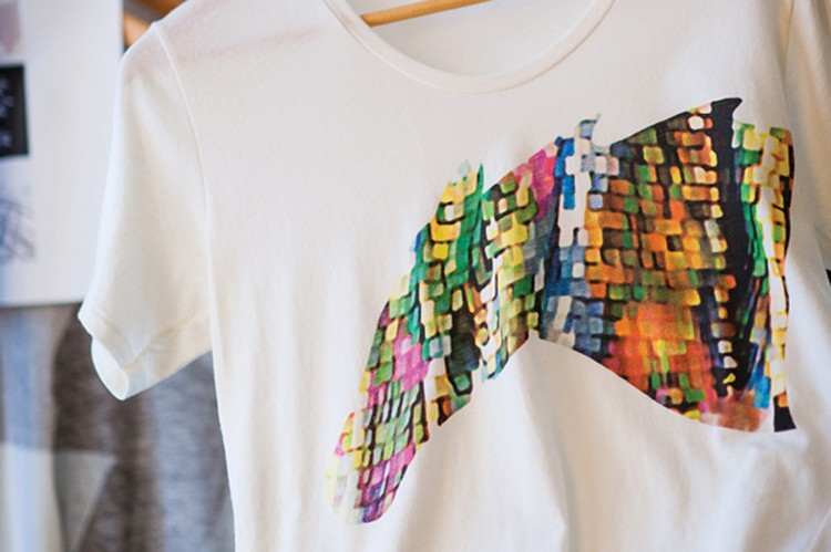 Brazilian-born designer Paula Cademartori's glamour T-shirt for women