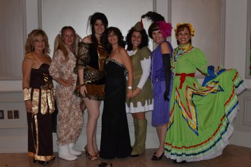 Guests descend on the Halloween-themed soiree in various costumes