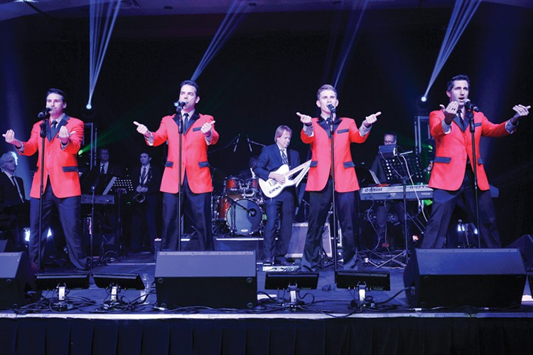 L.A. foursome Oh What A Night! belts out a tribute to Broadway's smash hit Jersey Boys