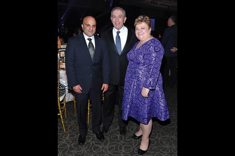 Altaf Stationwala, president and CEO of Mackenzie Health; former Vaughan MPP Greg Sorbara; Ingrid Perry, president and CEO of Mackenzie Health Foundation