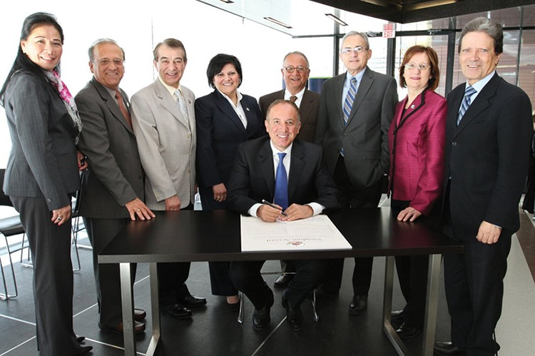 Mayor Maurizio Bevilacqua and the Vaughan City Council