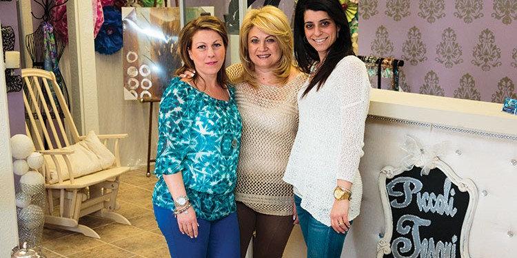 Teresa Raso, Jessica Iammatteo and Cesie Furfaro, co-founders of Piccoli Tesori