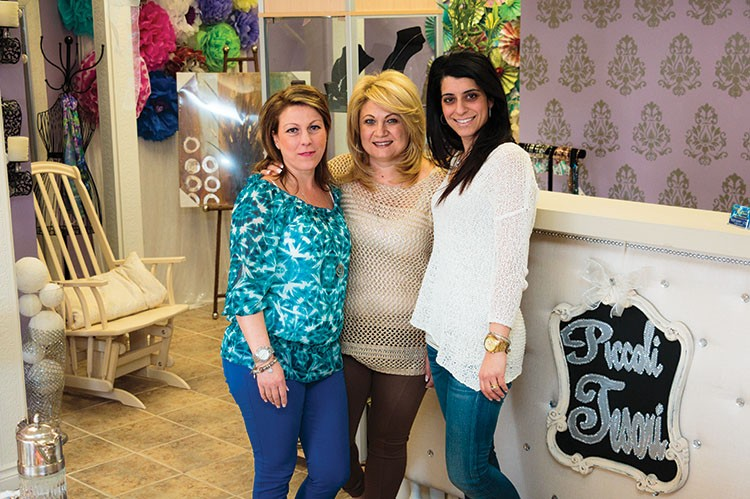 Teresa Raso, Jessica Iammatteo and Cesie Furfaro, co-founders of Piccoli Tesori