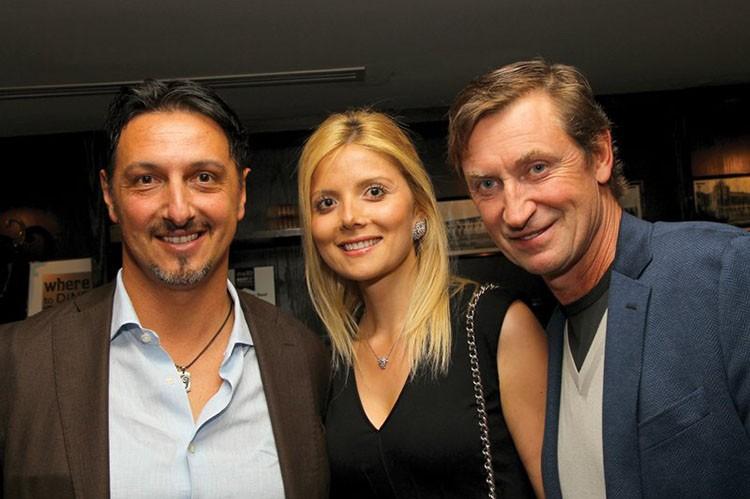 Mauro Mattei, Mariana Tosic and Wayne Gretzky