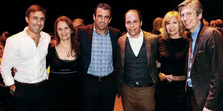 Luca Baffigo Filangieri, CEO of Eataly; Francesca Leone, ICCO; two representatives from Longo's; Madeline Zito of Great Gulf; Tony Grossi of Wittington Investments