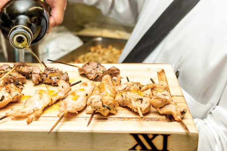 Delicious dishes were served for the grand opening of XXI Chophouse on July 7, 2015
