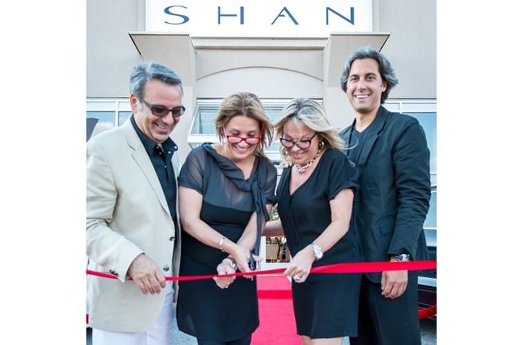 Gino Lévesque, Nathalie Lévesque, Chantal Lévesque and Jean-François Sigouin at the ribbon cutting for SHAN Boutique