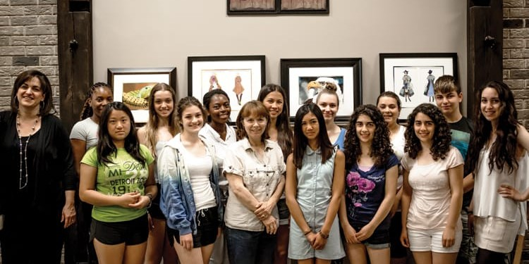 Joanne Dice, left, and a group of her talented students