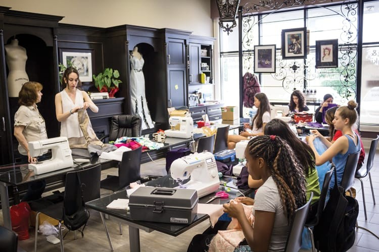 Industry professionals with decades of real-world experience teach students at Haute Couture
