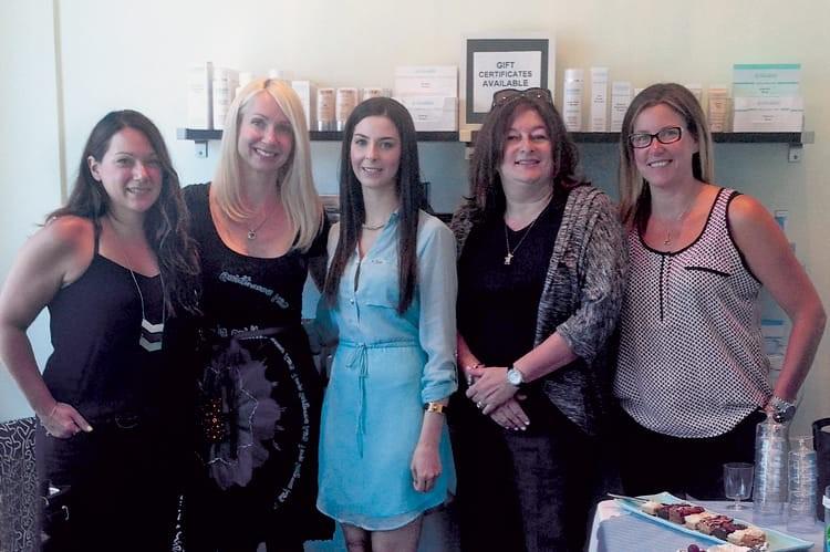 Left to right: Sonia Klinger, Daniela Hofmann, Vanessa Budz, Nicole Simmons and Kim Spoorenberg
