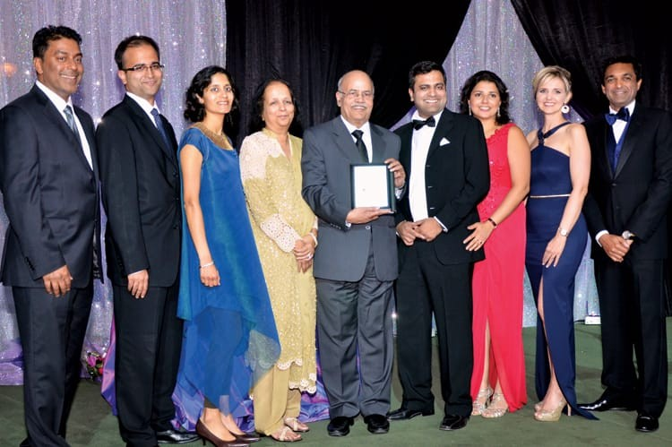 The Kothari family with SANSAR's board of directors