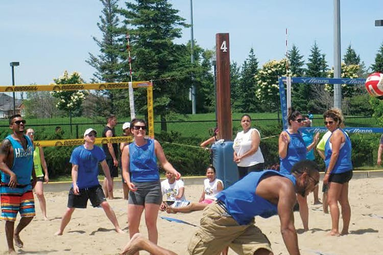 Volleyball players serve up a fantastic game while raising money for child cancer research