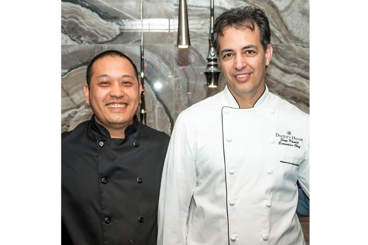 Sous chef Phong Vang and executive chef Sam Khalil