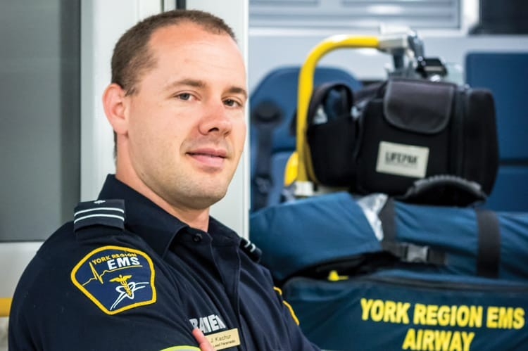 JORDAN KACHUR, CAPTAIN/LEAD PARAMEDIC AT YORK REGION EMS